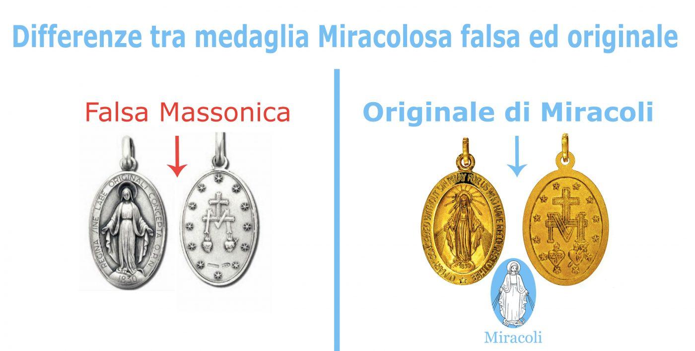 Risultati immagini per medaglia miracolosa falsa